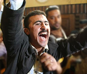Emad El-Kebir celebrates the sentencing of his attackers.