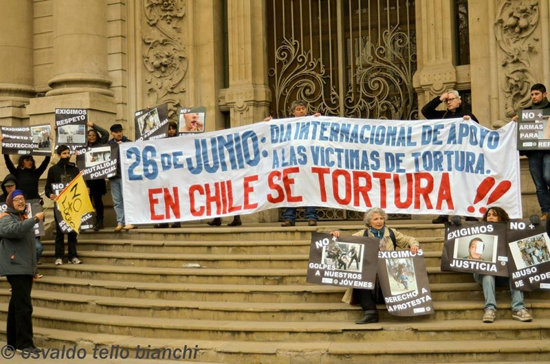 Protesting in support of torture victims