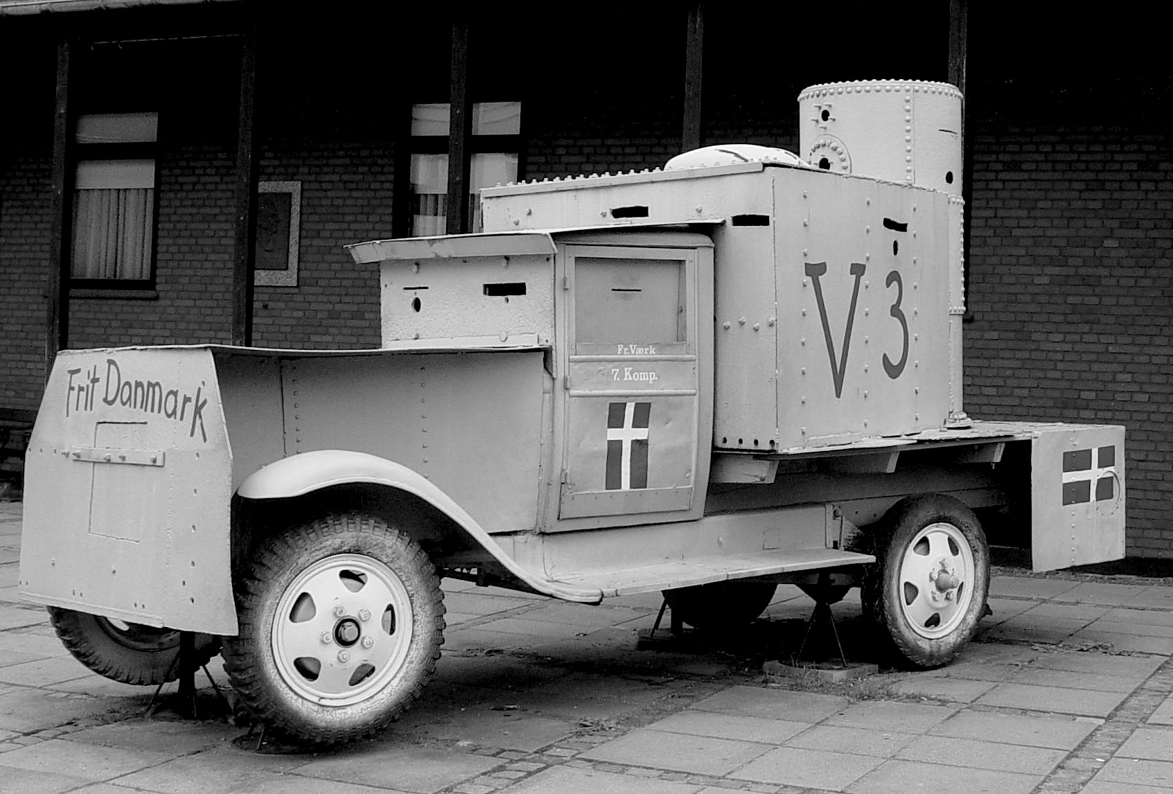 Vehicle built by railway shop workers for the Danish resistance movement