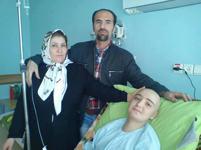 Behnam Ebrahimzadeh and his family
