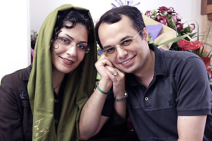 Bahareh Hedayat and her husband Amin