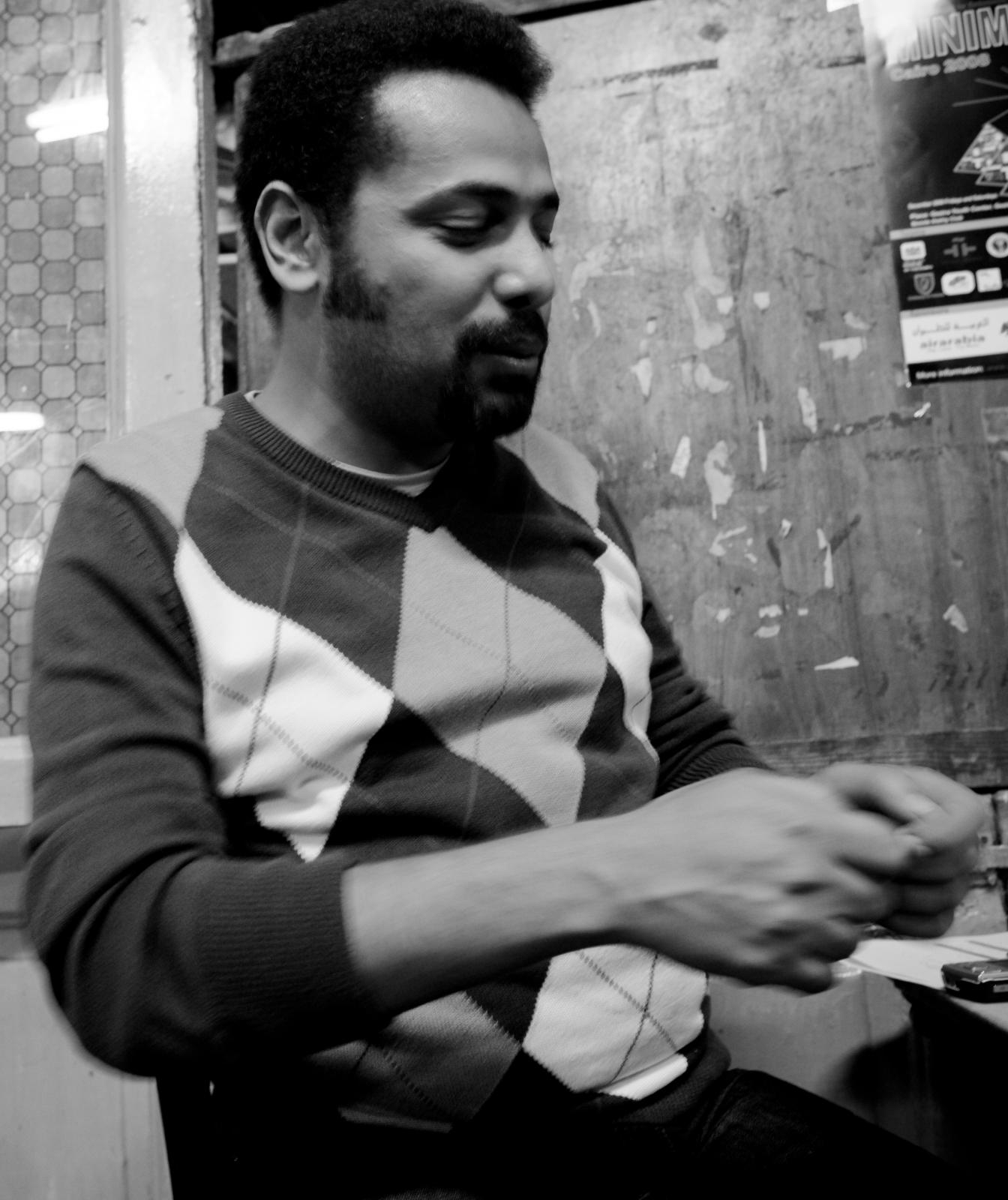 Wael Abbas. Photo by Hossam el-Hamalawy.